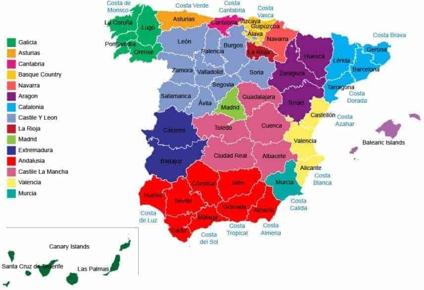 Top 8 Regions Of Spain