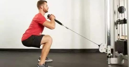 How to do cable squats